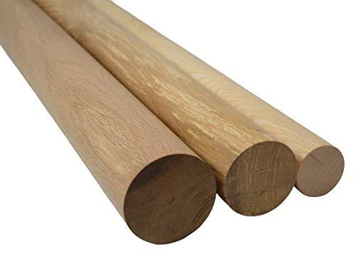 Hilmo - Rundstab Rundstäbe Eiche Esche Buche Massivholz Holz, Ø 60 mm bis 80 mm (Eiche, 70 mm)
