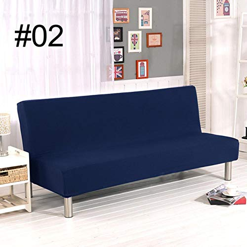 XCVBSofa hoes Effen kleur slaapbank zonder armleuning Couch Covers voor opvouwbare bankhoes Slaapbankhoes effen All-inclusive hoes voor, 02