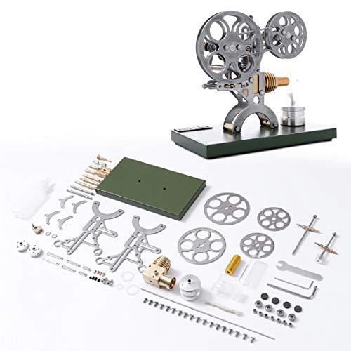 Yamix Stirling Engine Assembly Kit Nostalgic Film Projector Style Stirling Engine Motor Model Build Your Own Stirling Engine