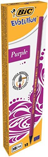 BiC Evolution, Pack de 12 lápices, Color Purpura