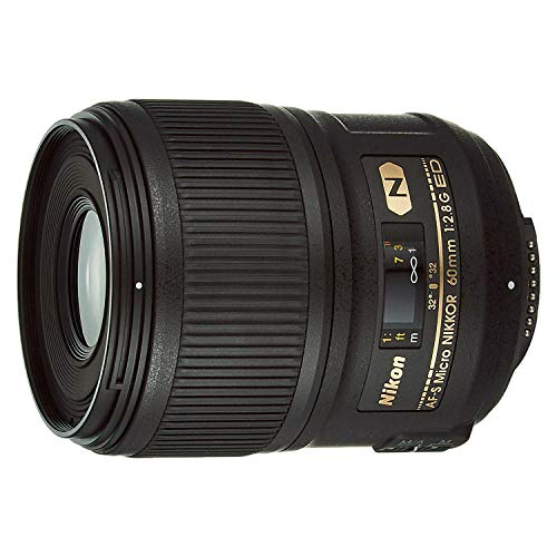 Nikon AF-S Micro - Objetivo para Nikon (Distancia Focal Fija 50mm, Apertura f/2.8-2.8), Negro