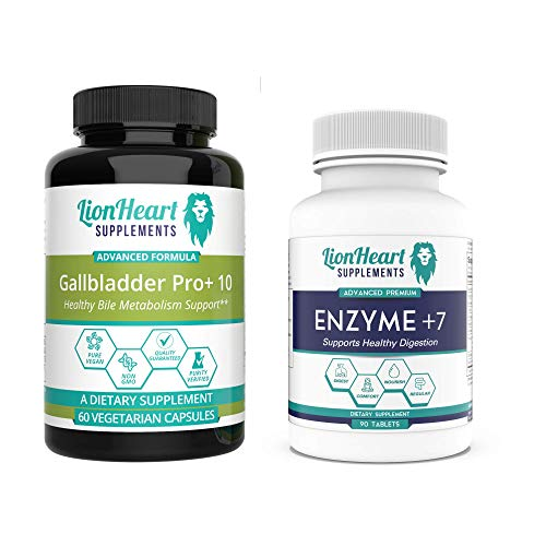 Gallbladder Support Liver Detox & Cleanse - Digestive Enzymes & Liver Support Supplement Contains Ox Bile & Milk Thistle