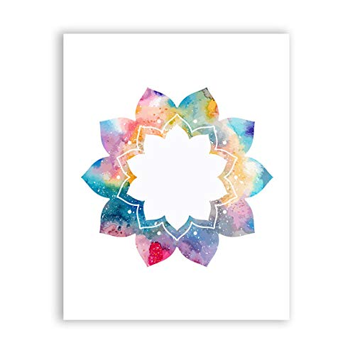 Schöne Mandala dekorative Kunstdruck Poster Yoga Wandbild Home Vintage dekorative Leinwand Malerei 60X80cm