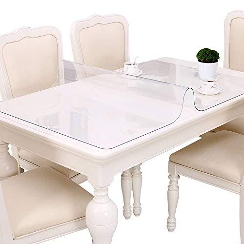 Bove Tovaglie in PVC Trasparente per scrivania, Tappetino per Protezione Materassino per Tavolo in plastica Impermeabile-1.5mm-90x160cm(35x63pollice)