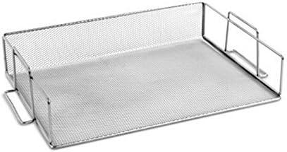 Ybmhome Silver Steel online shop Mesh Stackable Paper favorite Letter Shelf Holder Tr