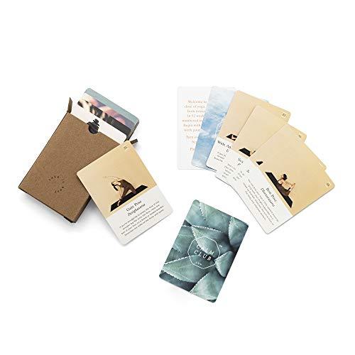 Calm Club Yoga Deck – carte da yoga con 52 posizioni per principianti, esercizi di yoga e attività di consapevolezza