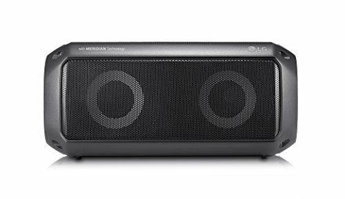 LG Electronics LG PK3 Outdoor Bluetooth Lautsprecher mit Meridian Technologie Schwarz