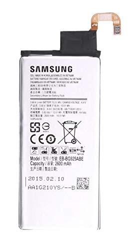 Akku für Samsung Galaxy S6 Edge | Li-Ion Ersatzakku mit 2600mAh | Samsung Original-Zubehör | inkl. Displaypad