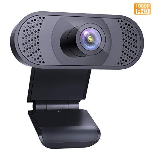 PC Webcam 1080P con Microfono per Laptop, PC con Correzione Automatica di Luce, per Video live