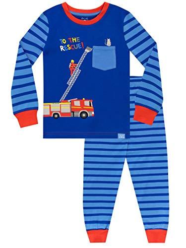 Harry Bear Pijamas para niños Ajuste Ceñido Bombero Azul 5-6 Años
