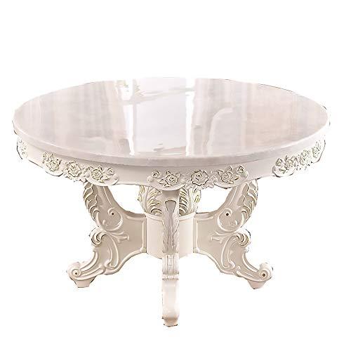 Mesa de Comedor, combinación de Mesa y Silla de Madera Maciza Mesa de Comedor Redonda con Plato Giratorio Muebles de Cocina 130cm / 150cm,150cm Table