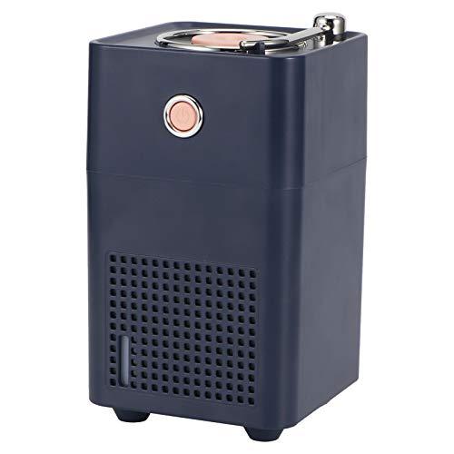 SZHWLKJ Azul 300 ml retro humidificador de aire portátil difusor de agua oficina hogar Mist Maker Fogger con luz LED USB carga
