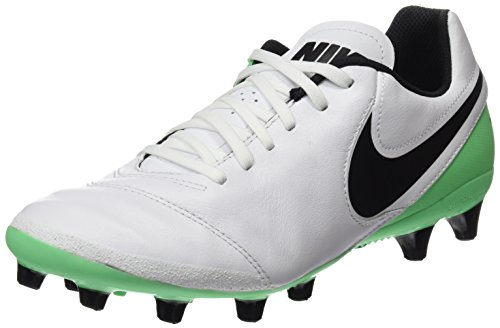 Nike Herren Tiempo Genio II Leather AG-Pro Fußballschuhe, Weiß (White/Black-Electro Green), 45 EU
