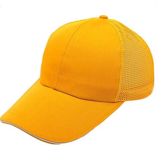 Gorros Gorra Unisex De Béisbol para Hombre para Mujer con Basic Malla De Algodón Protector Solar Tenis Golf Enarboló El Casquillo del Polo Gorras Ropa (Color : Gelb, Size : One Size)