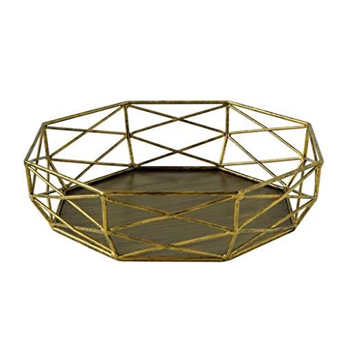 Kiki Retro Metall Tortenständer High-End-Hochzeit Dessert Tischdekoration Haupt Kuchen-Standplatz-Tray Nachtisch-Standplatz-Kuchen-Ausstellungsstand (Color : Gold)