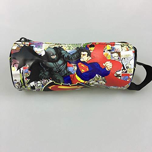 DC Marvel Comic - Estuche para lápices de superhéroe de Batman Superman Flash Joker para Hombres y Mujeres, Estuche de lápices de Piel: Amazon.es: Hogar