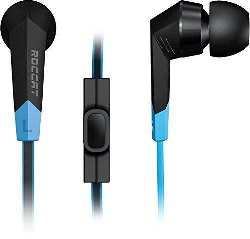 Roccat Syva - Auriculares Gaming In-Ear (micrófono de Cable, tecla Call/Play), Negro
