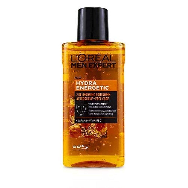メリー落ち込んでいる頭蓋骨ロレアル Men Expert Hydra Energetic 2-In-1 Aftershave + Facecare 125ml/4.2oz並行輸入品