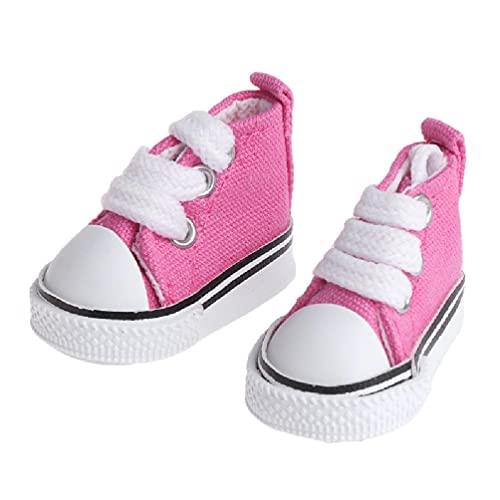 XIANGBEI Zapatos de muñeca de 5 cm, accesorios de tela, juguete de...