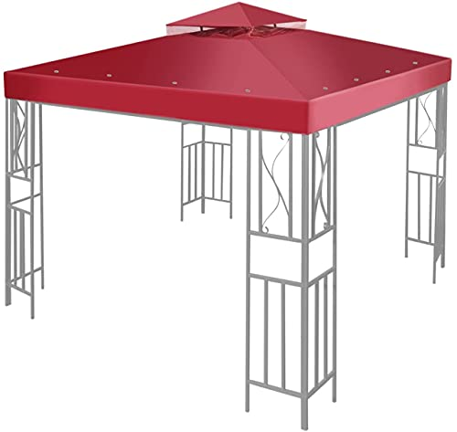 ASEDF 3 X 3 M Toldo De Cenador De Repuesto Impermeable, Cubierta para Pabellón con 16 Arandelas De Exterior Jardín