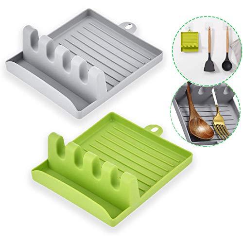 2 Soportes para Utensilios de Cocina, Soporte de Plástico para Utensilios de...