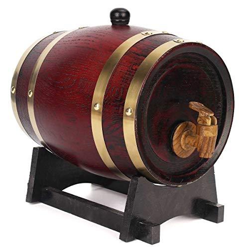 NO BRAND 1,5 l / 3L / 5L de Madera Barriles fermentación del Vino del Barril de la Madera de Roble elaborado Cerveza Vino Tinto Barril de Whisky Ron Brewing Barril Bar Accesorios (Color : 1.5L)