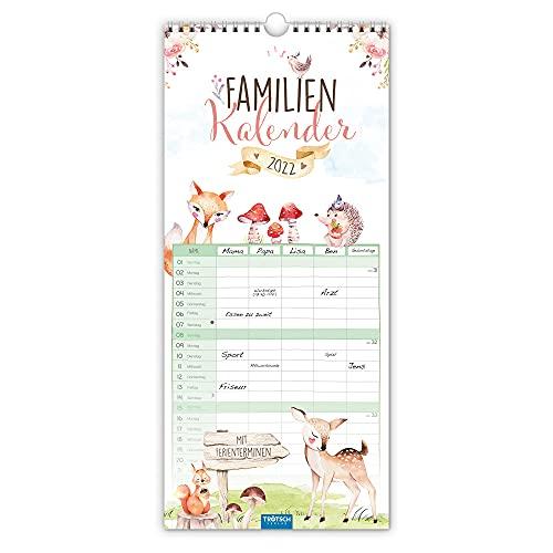 Trötsch Familienkalender Waldfreunde 2022: Wandkalender