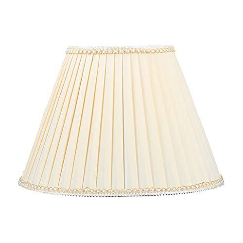 Pantalla plisada, Para lampara de mesa Pantalla de decoracion Tejido Lámpara de noche Sala Lectura de estudio Accesorios de iluminación Para E27,Beige