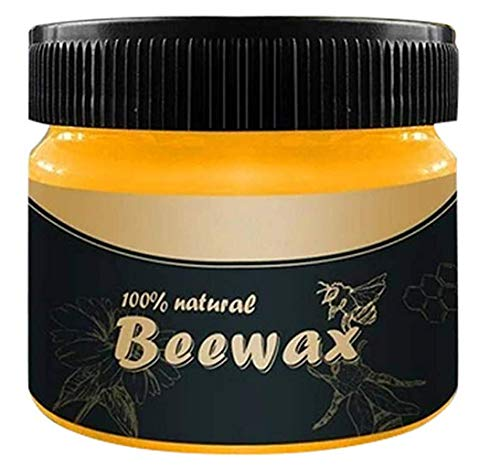 Beewax Wood Polish and Conditioner, Beeswax &, 85g, Wood Seasoning Beewax Beeswax Home Cleaning for USE ON Wood, Metal and Leather