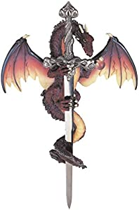 StealStreet SS-G-71303 Dragon Collection with Sword Collectible Fantasy Decoration Figurine