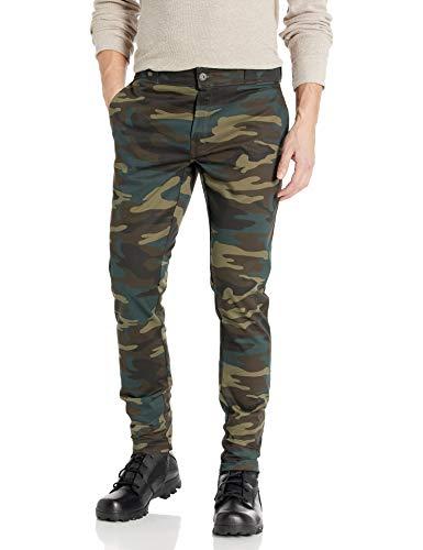 Dickies Men's Stretch Skinny fit Pant, Hunter Green Camo, 34W X 32L