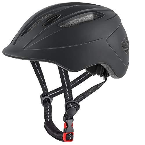 DesignSter Fahrradhelm für Kinder Verstellbar Robuster Jugend Fahrradhelm Skateboard Helm BMX Skaterhelm– Mit CE Zertifikat(48-52CM)