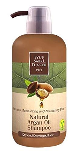 EYUP SABRI TUNCER Natural Argan Oil Shampoo 600ml-Deeply penetrates into The Damaged Hair Roots and nourishes Your Hair and Provides Excellent Hair Repair.