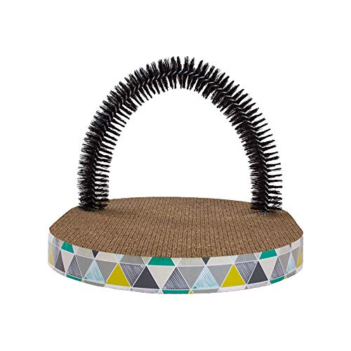 Petstages Scratch & Groom Corrugated Cat Scratch Pad With Catnip