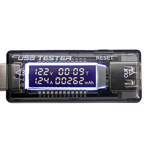 waves QC2.0 対応 USB 簡易 電圧・電流 チェッカー テスター 積算電流・通電時間計測 国内発送