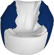 E-SeaRider Round Marine Beanbag, White/Dark Blue, Medium