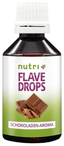 Flave Drops Schokolade 50ml - Aromatropfen ohne Kalorien - Schokoaroma zum Backen & Süßen von Speisen - Chocolate Flavor Drop Vegan - Schoko Flavour zuckerfrei - Schokoladenaroma