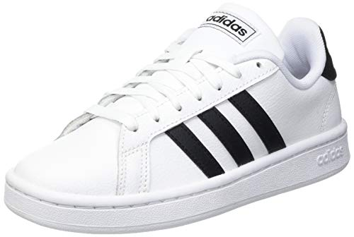 adidas Herren Grand Court Sneaker, Cloud White/Core Black/Cloud White, 45 1/3 EU