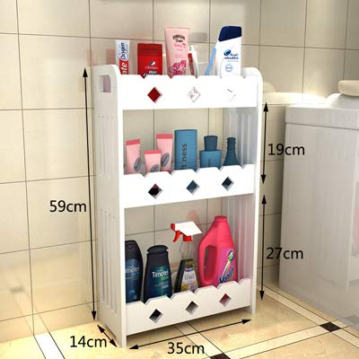 ADSIKOOJF eenvoudige mode badkamer opslag plank muur gemonteerd toilet opslag rek badkamer organisator Vanity muur opknoping opslag kast