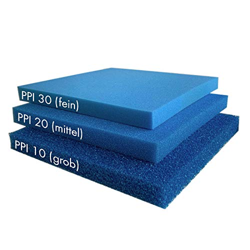Pondlife Teich - Filterschaum/Filtermatte blau 100 x 100 x 3 cm grob PPI10