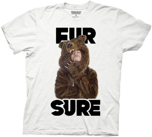 Workaholics Fur Sure Blake Sunglasses Bear Coat T-Shirt - 2XL