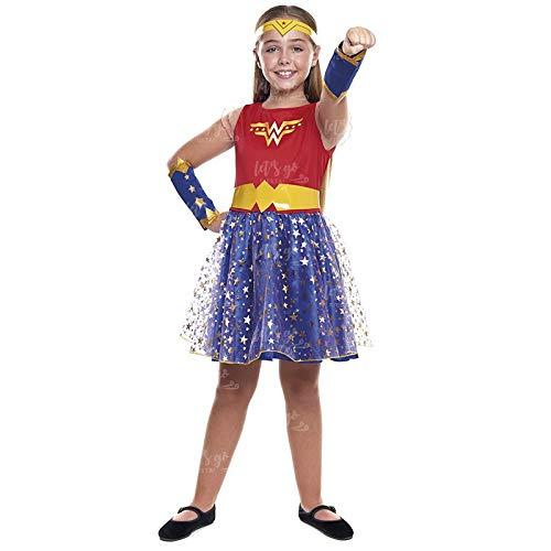 Disfraz Heroína Wonder Girl Niña Disfraz Superhéroe Niña (Talla 3-4 años) (+ Tallas)