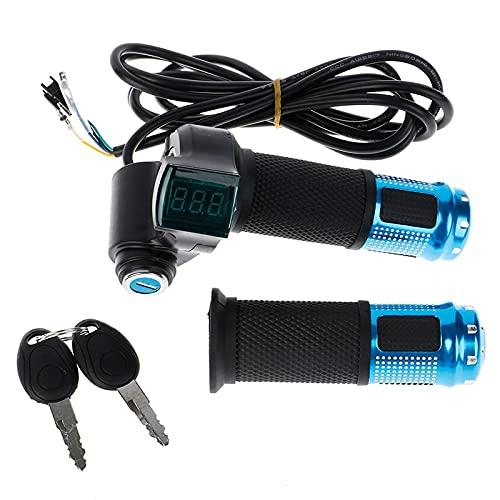Zuhaian 2 unids/set universal bicicleta eléctrica acelerador con pantalla LCD indicador de...