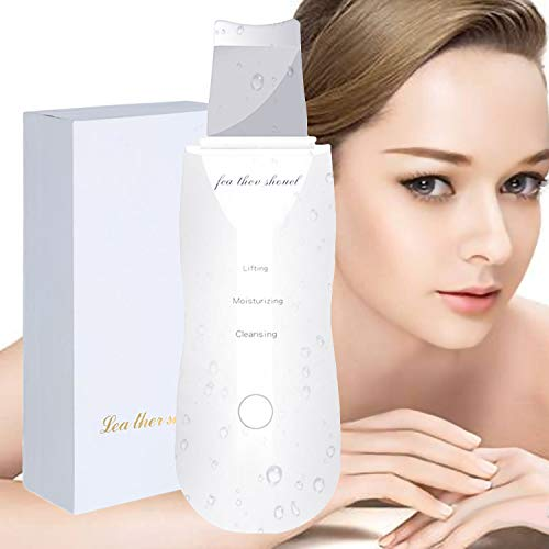 Facial Skin Cleansing,Pore Cleaner Ultrasons Nettoyage,Nettoyeur de peau Facial Pores Laveur Peeling Pelle Masseur exfoliant Charge USB(Blanc)