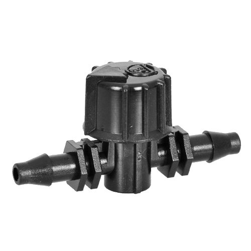 "Antelco 42155 Vari-Flow Coupling Valve Barbed 0.16"" (1/4"") ID Tubing Drip Irrigation (25)"
