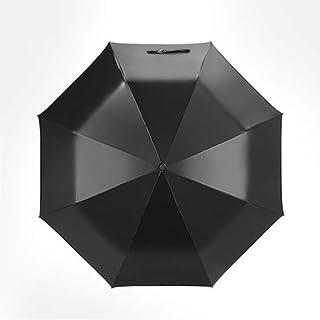Umbrella Windproof Umbrella Folding Black Sunscreen UV Protection Female Cover (Size : D)