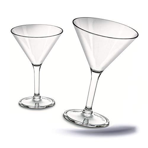 Kerafactum - 2 copas de Martini, plástico duradero y duradero, copas de cóctel, copas de fiesta, copas para refrigerios, óptica de vidrio, aptas para lavavajillas