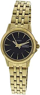 Citizen ECO DRIVE Analog Black Dial Women's Watch - GA1052-55E