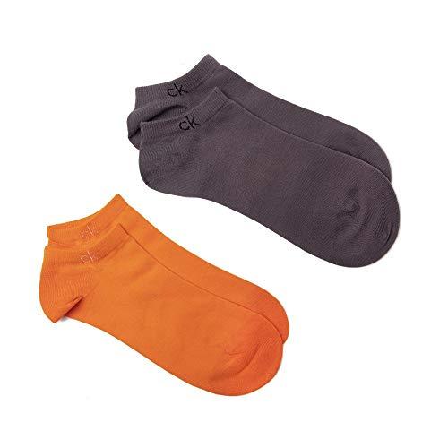 Calvin Klein 2 Pack Logo Herren Socken Mehrfarbig Lrg