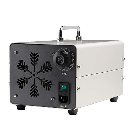 Generador de Ozono 20.000 MG/h Ozonizador y Purificador de Aire para Desinfectar Espacios Eliminando Virus, Hongos, Bacterias, Alérgenos y Malos Olores - Certificado CE